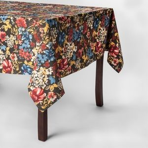 """Threshold FLORAL Oblong 60"""" x 84"""" Tablecloth"""